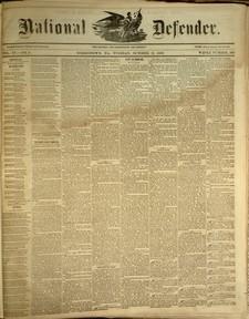 National Defender, v. IV, no. 9, Tuesday, October 11, 1859