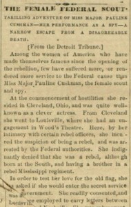 Female Federal Scout National Defender, v. VIII, no. 42, Tuesday, May 31, 1864, Whole Number 404, p.[3], col. 5.