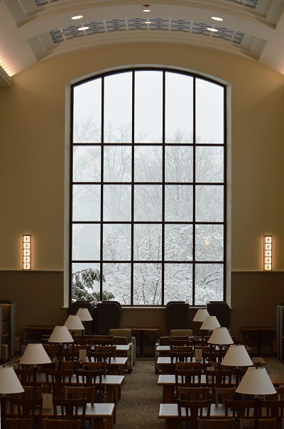 View from the Dugan Polk Family Reading Room