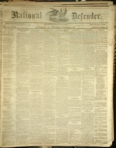 National Defender, v. V, no. 9, Tuesday, October 10, 1860