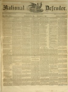 National Defender, v. VIII, no. 9, Tuesday, October 13, 1863