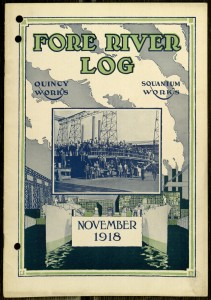 Front cover, The Fore River Log, v. IV, no. 4, November, 1918
