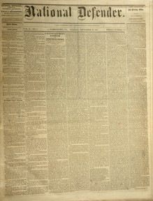 National Defender, v. X, no. 7, Tuesday, September 19, 1865