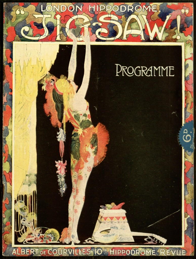 "Document 7, front cover, - London Hippodrome ""Jigsaw!"" Programme."