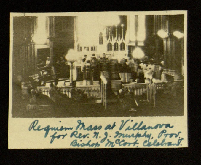 "Photograph, ""Requiem Mass at Villanova"", From: Photograph album, Villanova College, circa 1917"