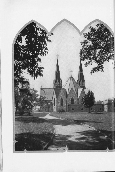 A view of the St. Thomas of Villanova Church from a 1929 Belle Air yearbook