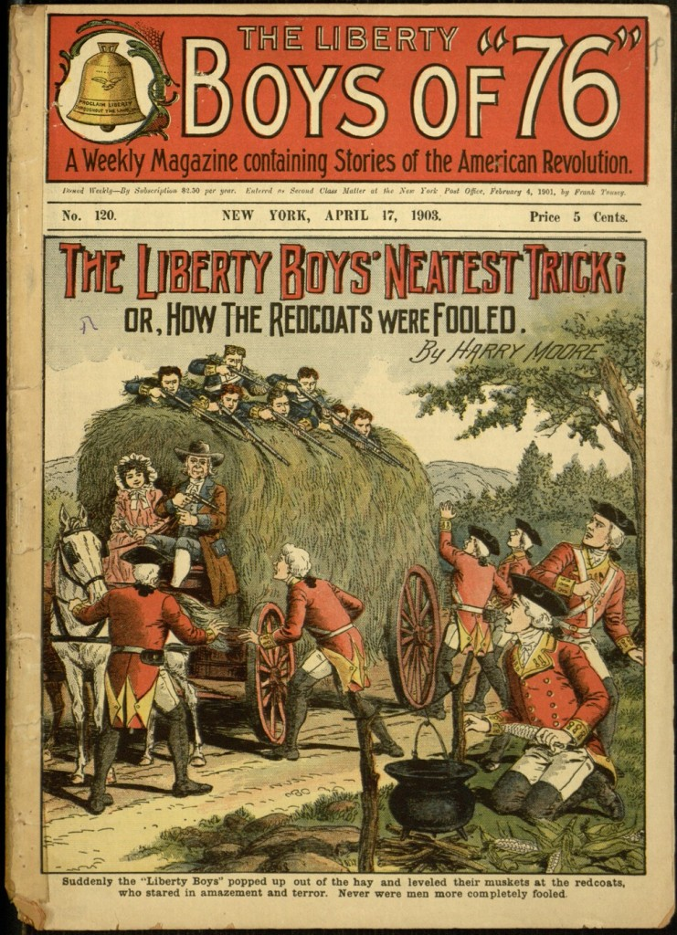 Front cover, The Liberty Boys' neatest trick; or, How the Redcoats were fooled / by Harry Moore