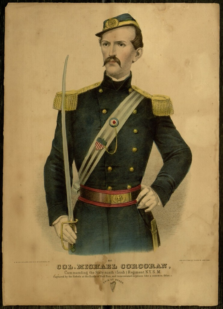 Lithograph, Col. Michael Corcoran, Commanding the Sixty-ninth (Irish) Regiment. N.Y.S.M.