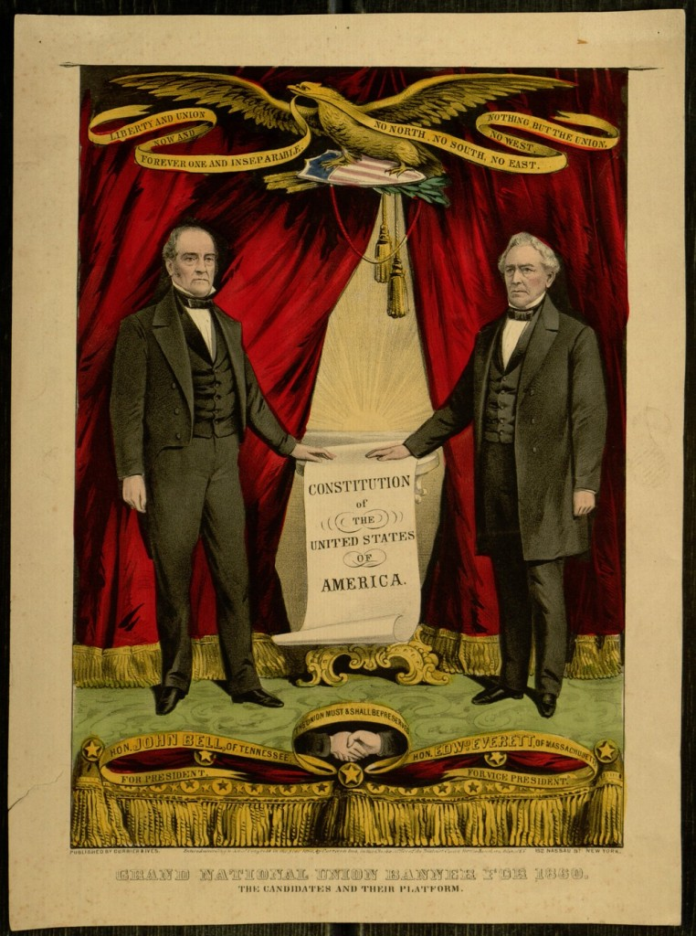 Lithograph, Grand National Union Banner for 1860