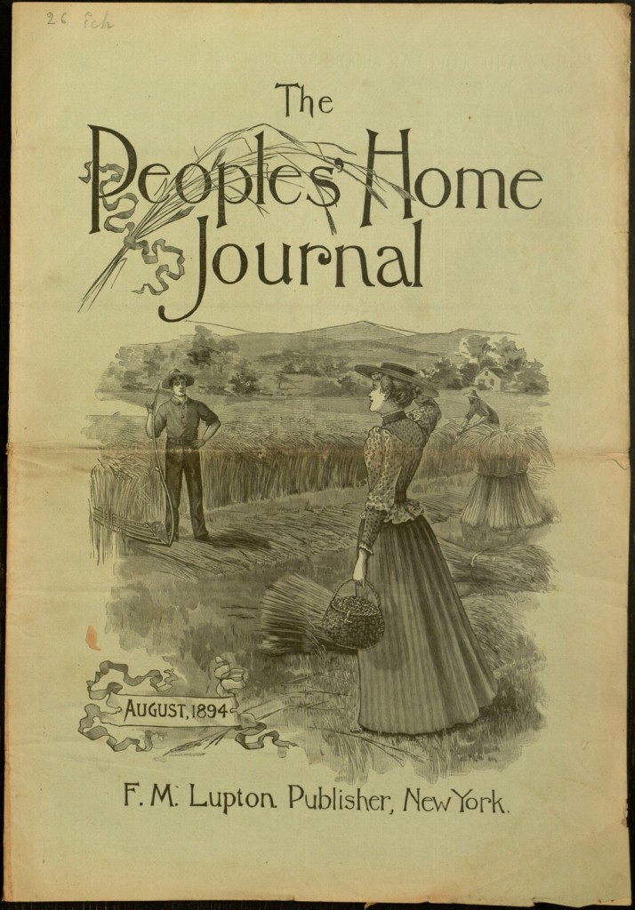Front cover, The People's Home Journal, v. IX, no. 8, August 1894