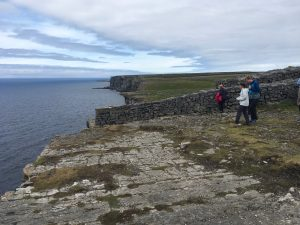 The, rather sheer, coastline of Inis Mor.