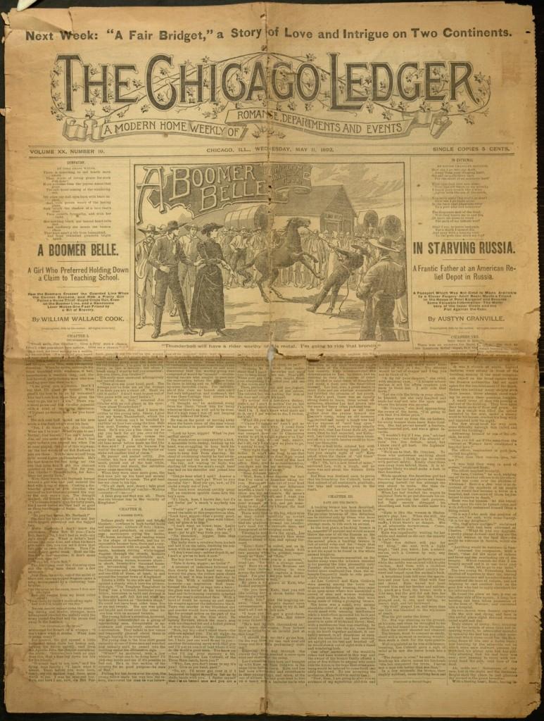 [1] p., Chicago Ledger, v. XX, no. 19, Wednesday, May 11, 1892