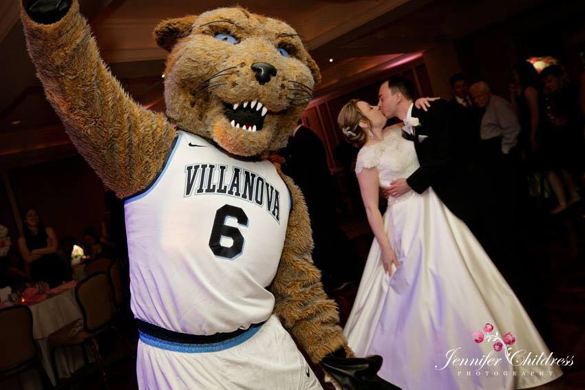 Wildcat, Will D. Cat, mascot, Villanova mascot, wedding, falvey employee wedding, nova nation