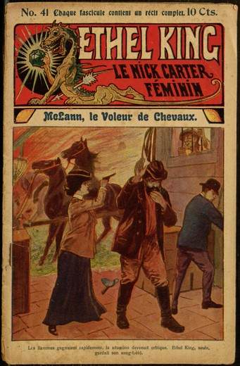 "Front cover, ""Ethel King, le Nick Carter féminin, no. 41"""