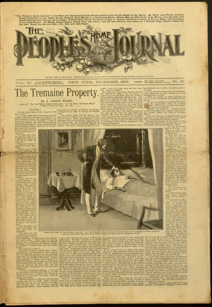[1]p., Image of 20 The People's Home Journal, v. XI, no. 12, December 1896