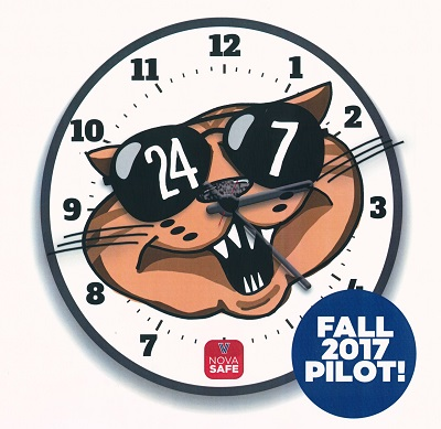 24/7 clock with Will D Cat
