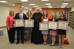 Fr. Peter Donohue, Falvey Scholars, 2016, awards, undergraduate research