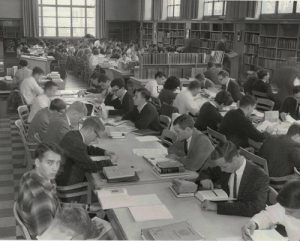 old falvey, reading room, 1964