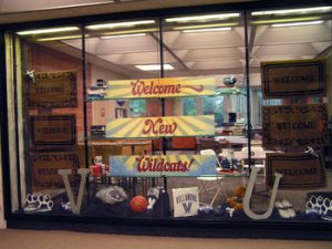 Welcome display, new wildcats, welcome, 2007