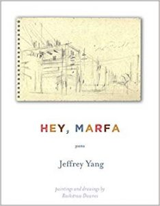 Hey Marfa by Jeffery Yang book cover