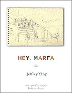 Hey Marfa by Jeffery Yang book cover