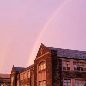 Rainbow Over Falvey Memorial Library