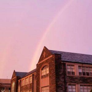 Rainbow Over Falvey Memorial Library