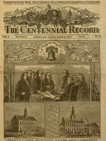 Centennial Record cover, 1876, about July 4th