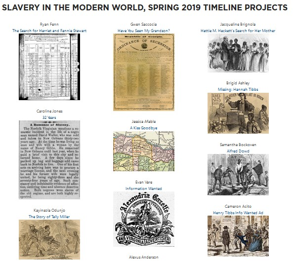 slavery in the modern world 2019 timeline projects