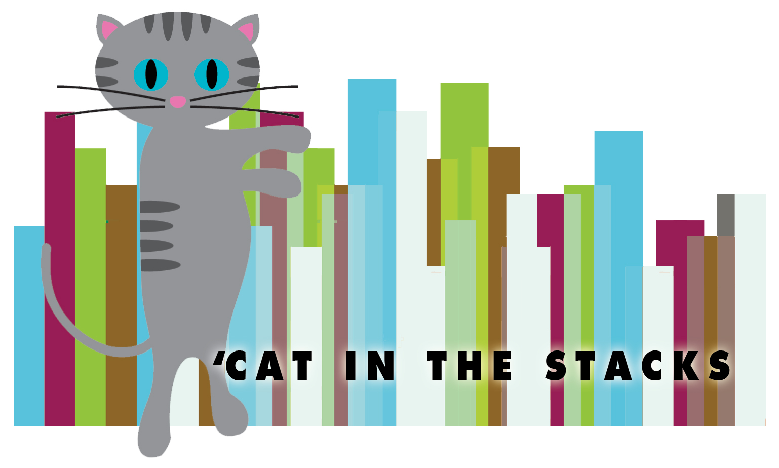 'Cat In the Stacks Logo and Banner