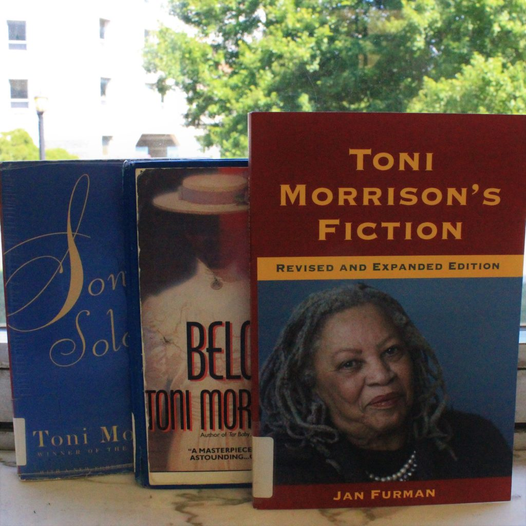 Toni Morrison book collage