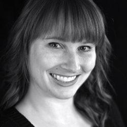 Sarah Wingo headshot black and white