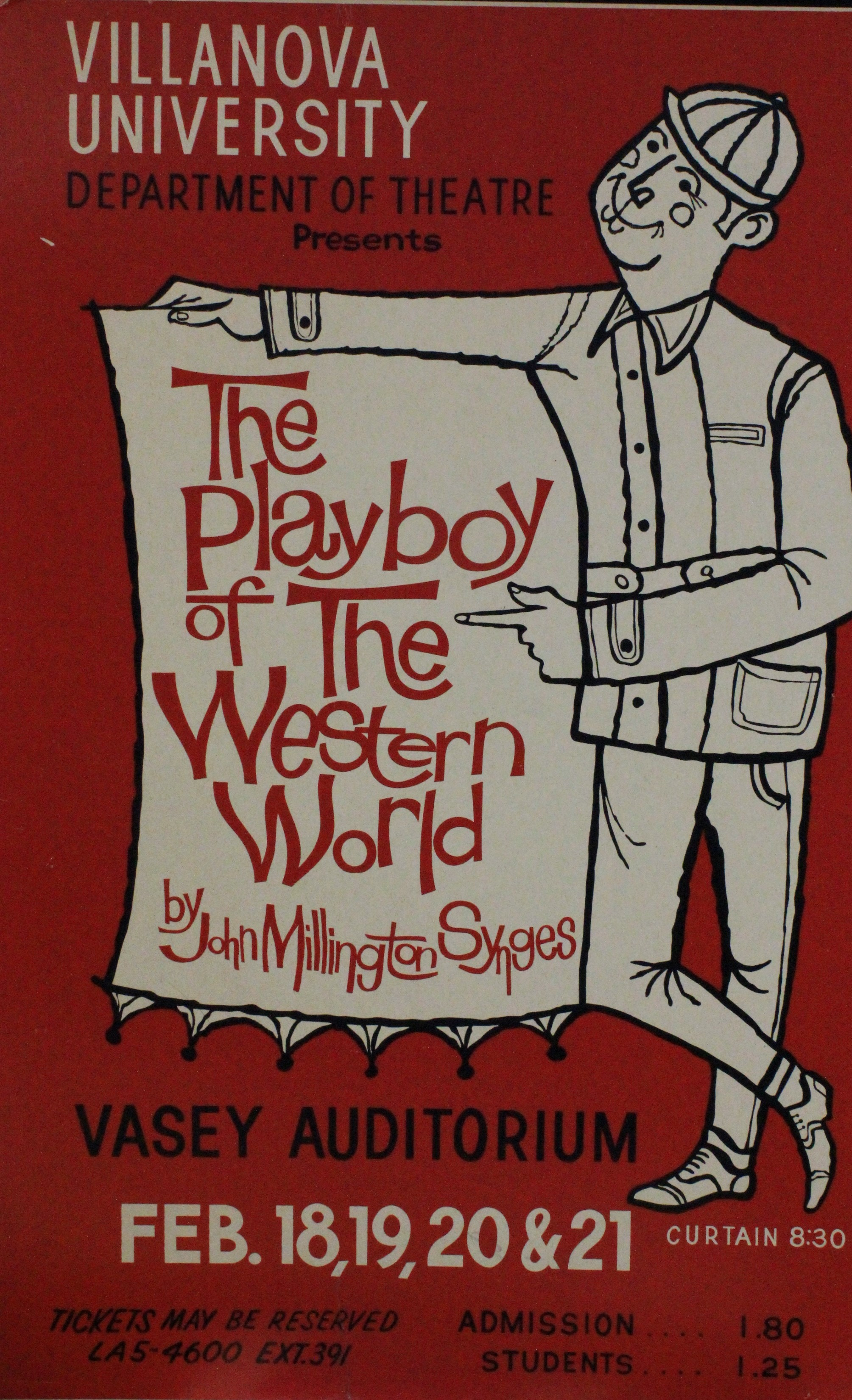 The Playboy of the Western World play bill, 1960 , at Villanova