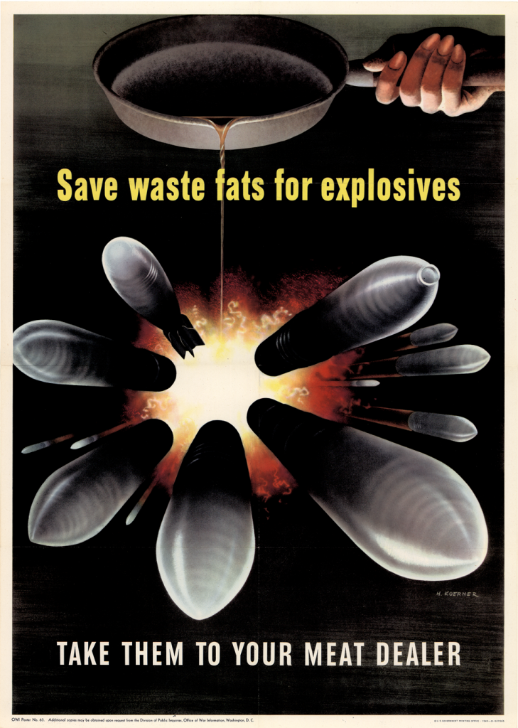 Save Waste Fats for Explosives, poster,