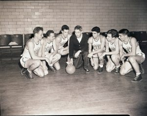 Negative, Basketball (Alexander G. Severance (Coach) & Team), 1946.