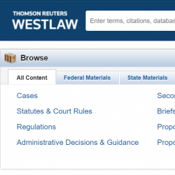 Library Running Trial to Westlaw Research Database