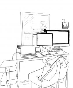 illustration of office