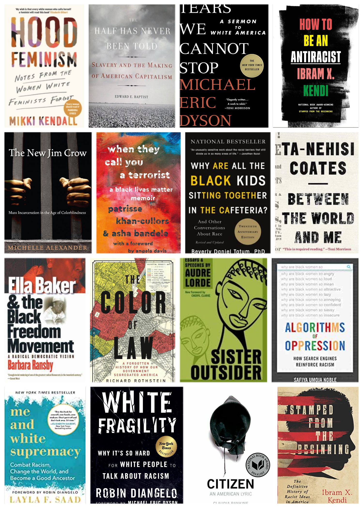 Collage of book covers featured in the article.