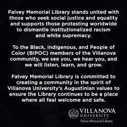 Library Statement on Protests