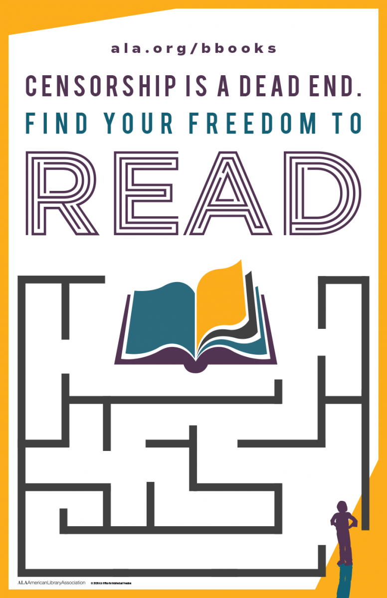 American Library Association's poster announcing Banned Books Week 2020.
