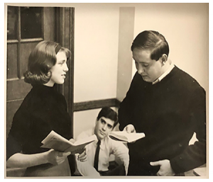 Picture from 1965 rehearsal of A Man of All Seasons
