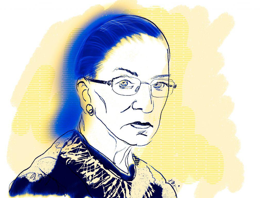 Image of Ruth Bader Ginsburg.
