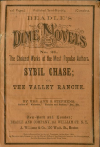 cover of Sybil Chase, or, The Valley ranche : a tale of California life from Falvey's digital collection