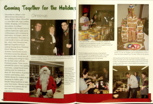 picture of an article from the Belle Air with a variety of different pictures of students participating in Christmas events