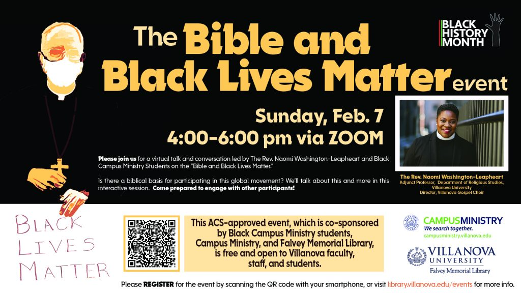 The Bible and Black Lives Matter poster
