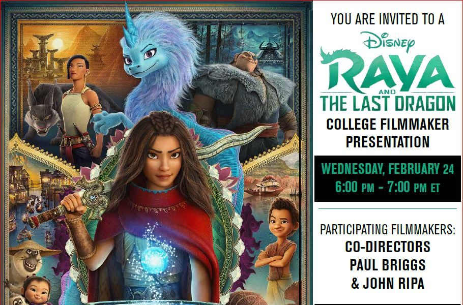Raya and the Last Dragon Event Flyer