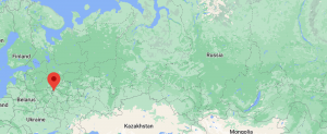 map depicting Russia