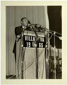 MLK speaking at Villanova