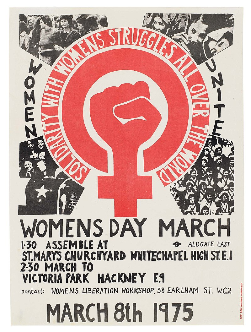 Poster from Womens Liberation Workshop in London - Stevenson, Prudence (Wiki Commons)