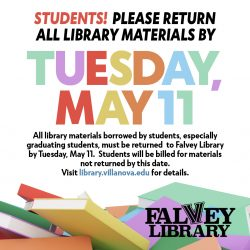 Students—Please Return All Library Materials By Tuesday, May 11